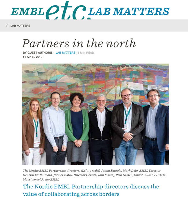 Partners in the North 20190411 EMBL Etc